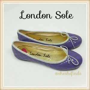 LONDON SOLE QUILTED HENRIETTA PATENT BALLET FLAT